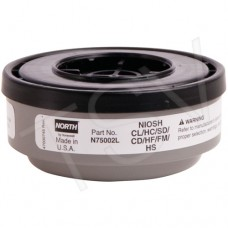 N-Series Gas/Vapour Respirator Cartridges North N75002L Dust Masks, Respirators & Related Accessories