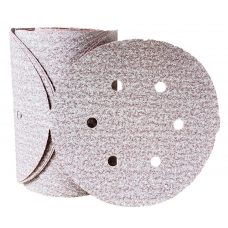 "Sanding Disc 6"" Diameter 6 Hole Pattern PSA Sticky Back Premier Red Aluminum Oxide 80 Grit Carborundum 15317 6"" Sticky Back 6 Hole"