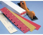 "Strips 2-3/4"" Wide 40 Grit E-Weight Paper Velcro Premier Red Carborundum 21343"