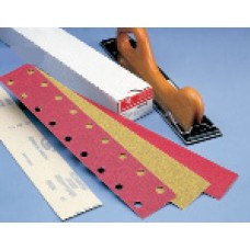 "Strips 2-3/4"" Wide 80 Grit E-Weight Paper Plain Backed Premier Red Carborundum 21348 Strips"