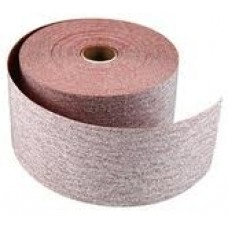 "Sticky Back Roll 2-3/4"" Wide x 45 Yards Long 320 Grit PSA Premier Red Carborundum 20333 Strips"