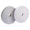 "8""x1/2"" Cotton 40-Ply Super Thick Full Disc Buff 1/2"" Arbor Hole"