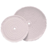 "8"" x 1/2"" Spiral Sewed Cotton Disc Buff"