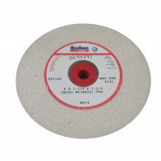 "White Grinding Wheel 6"" Diameter 1-1/4"" Thick with 1-1/4"" Arbour Hole 100 Grit Bench Grinding Wheels"