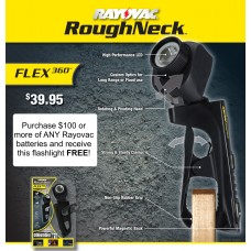 Flex 360 Roughneck    Batteries & Flashlights