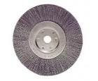 "Wire Wheel 6"" Diameter with 5/8""-1/2"" Arbour Hole 0.0118 Gauge Crimped"