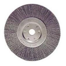 "Wire Wheel 6"" Diameter with 5/8""-1/2"" Arbour Hole .014"" Gauge Narrow Face Crimped Wire Wheels"