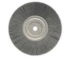 "Wire Wheel 8"" Diameter with 5/8"" Arbor Hole .014"" Gauge Narrow Face Crimped"