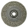 "Wire Wheel 4"" Diameter x 1/2"" Wide with 5/8-11 Arbour Hole .014"" Gauge Narrow Face Crimped (Stainless Steel) Wire Wheels"