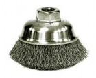 Wire Cup Brushes 3-1/2 Diameter M14x2.0 Arbour Hole .014 Gauge Crimped
