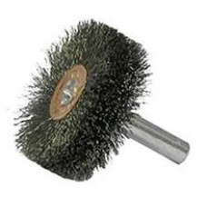 "Wire Wheel 1-1/2"" Diameter 1/4"" Shank .006 Gauge Crimped"
