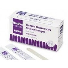 Tongue Depressors 3/4 X 6 (100/box) First Aid - Bandages Kits Etc.