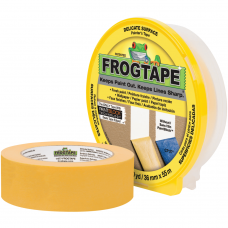 FrogTape® brand Painter's Tape Yellow Delicate Surface 24mm Wide Paint Brushes & Accessories