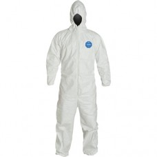 Tyvek 400 Coverall With Hood XXL - Hooded - Elastic Wrists and Ankles Disposable Protective Clothing