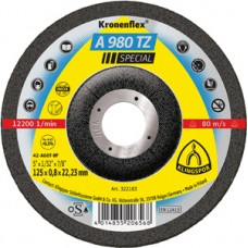 "Cut Off Type 27 (Depressed Center) 4-1/2 x 1/32(0.8mm) x 7/8 A980TZ Extra Thin Klingspor 322182 4-1/2"" Cut Off Wheels"
