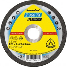 "Cut Off Type 1 (Flat) 5 x .040(1.0mm) x 7/8 Z960TX Thin Cut Klingspor 322185 5"" Cut Off Wheels"