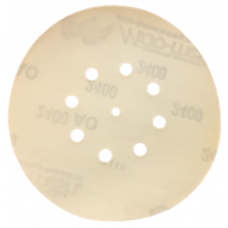 "6"" 8-Hole Velcro Aluminum Oxide 600 Grit Sanding Disc Clearance Section"