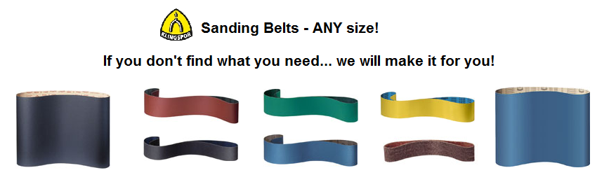We make custom sanding belts shipped and delivered to your door.